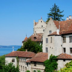 Castle of Meersburg at lake Bodensee